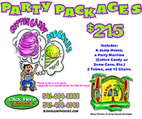 Big Air Jumphouses Party package